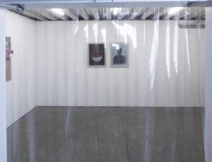 Tony Labatt, House Accessory (The Freezer), 2018, metal, plastic strip curtain