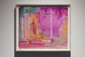 David Ireland, No Title (Stage Set for Twelfth Night), 1950, Gouache on paper