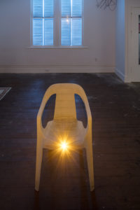 Michael E. Smith, Untitled, 2017, Chair, Light