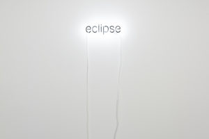 Cerith Wyn Evans Eclipse, 2005 Neon, paint, Courtesy of the artist and KADIST, San Francisco