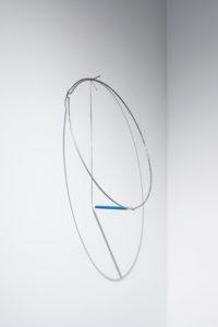 Felipe Dulzaides, Full Circle , 2011. Graphite, metal ring, nail and pencil.